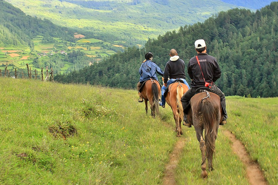Horse riding holiday Bhutan