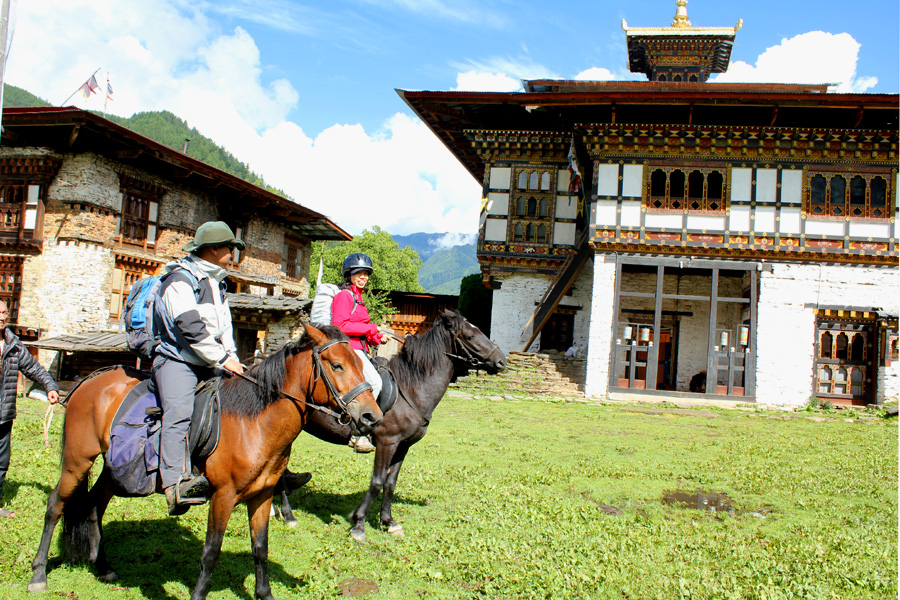 Culture and horse riding in Bhutan
