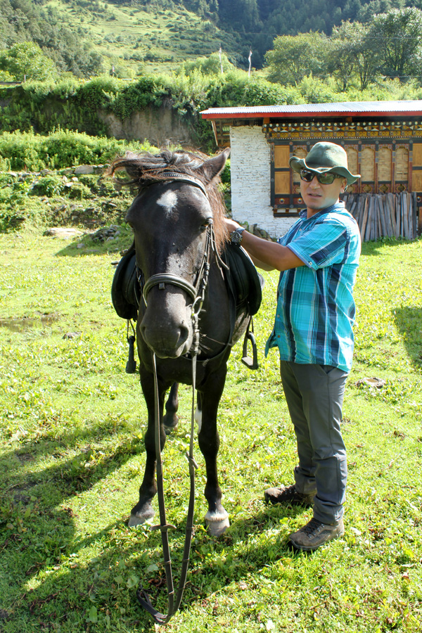 Horse riding in the Himalaya