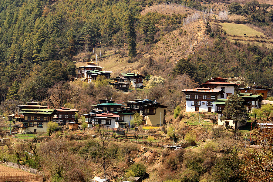 Visit villages in Bhutan
