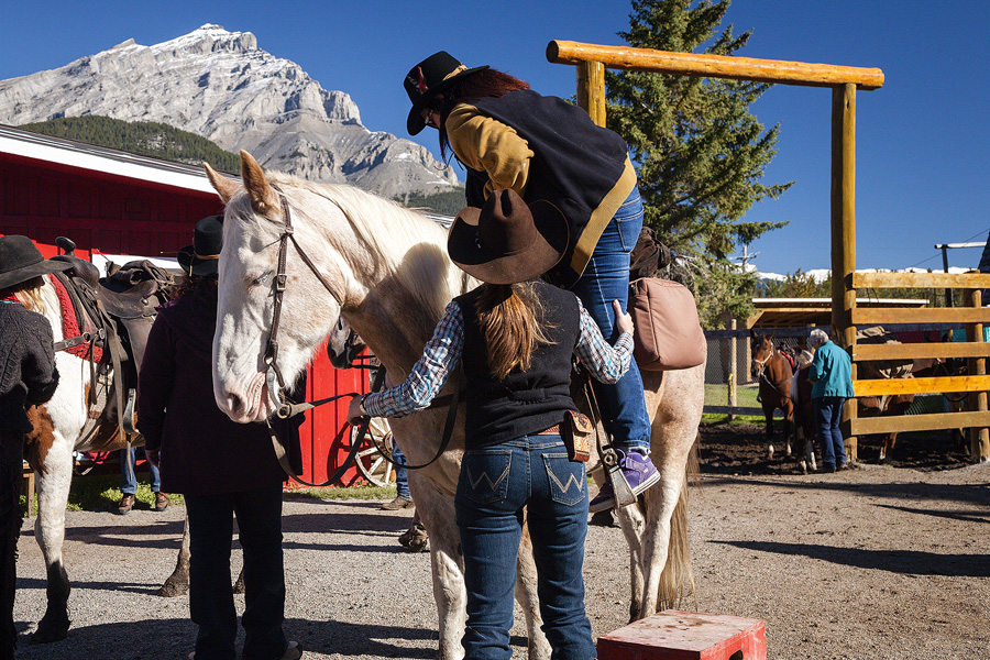 Pack trip horseback vacation in Banff National Park