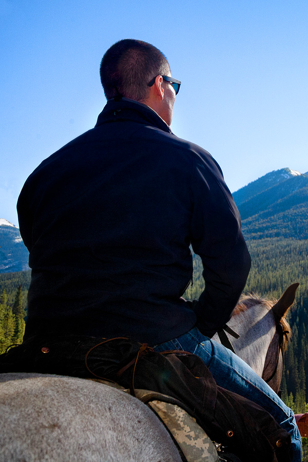 Horse riding in Canadian Rockies