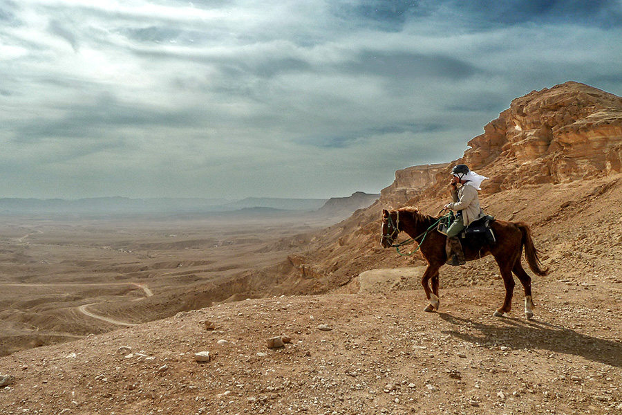 Horseback vacation in Negev desert