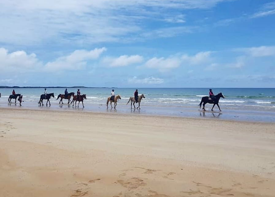Beach riding in Tasmania