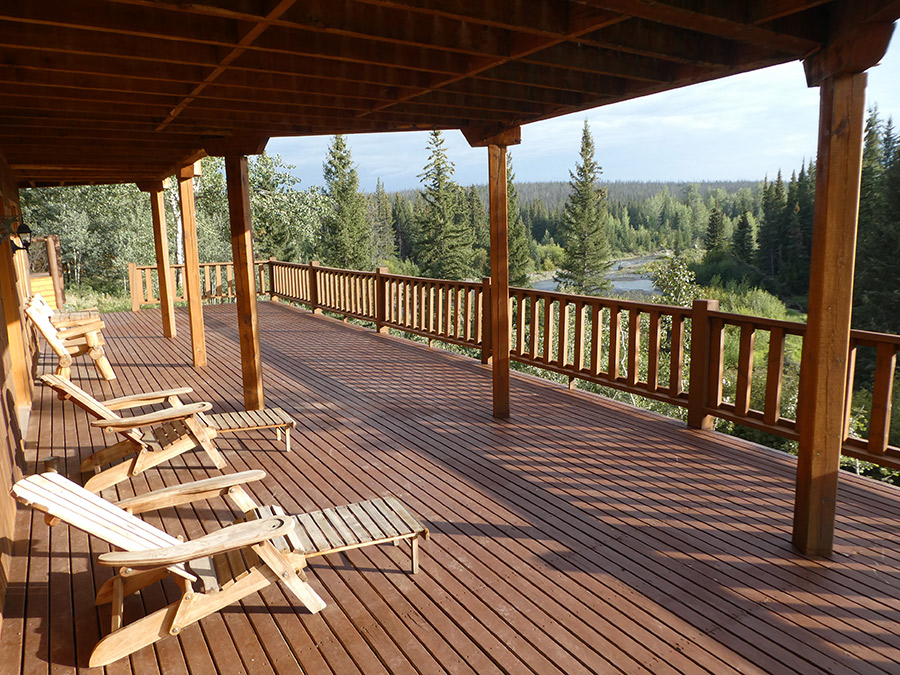 The deck of the lodge
