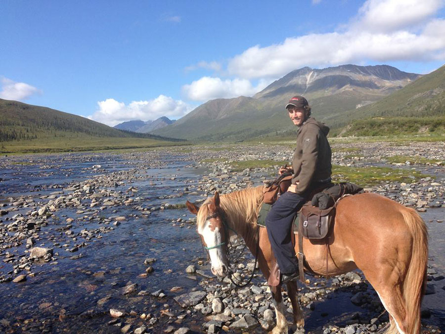 Horse-riding in the Yukon
