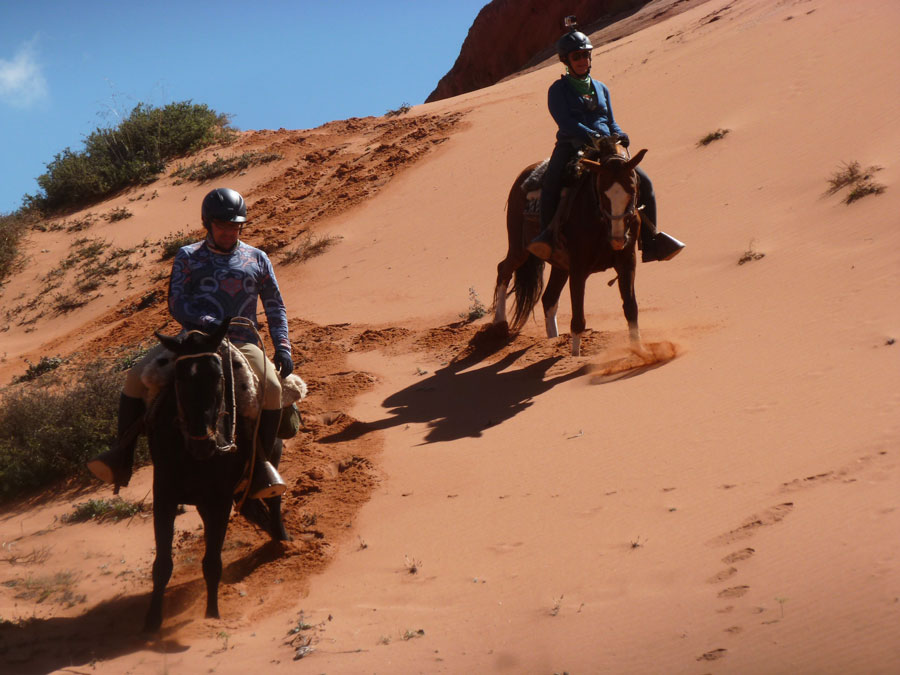 Riding on sand dunes