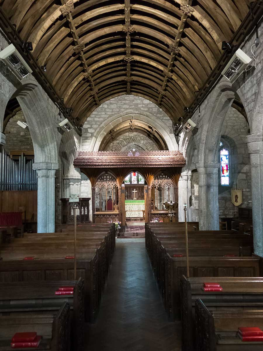 Church interior Crossing Dartmoor ride