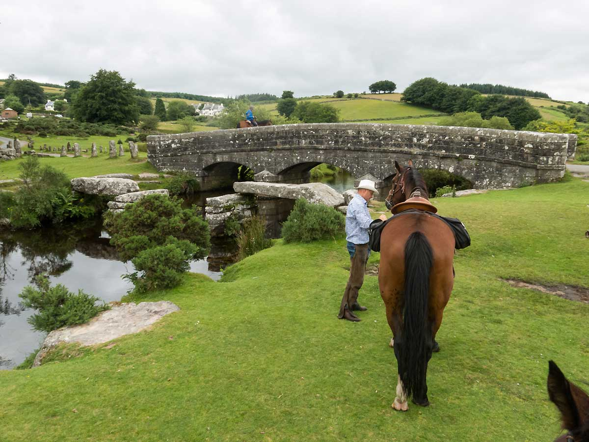 Stone bridget Dartmoor riding holiday