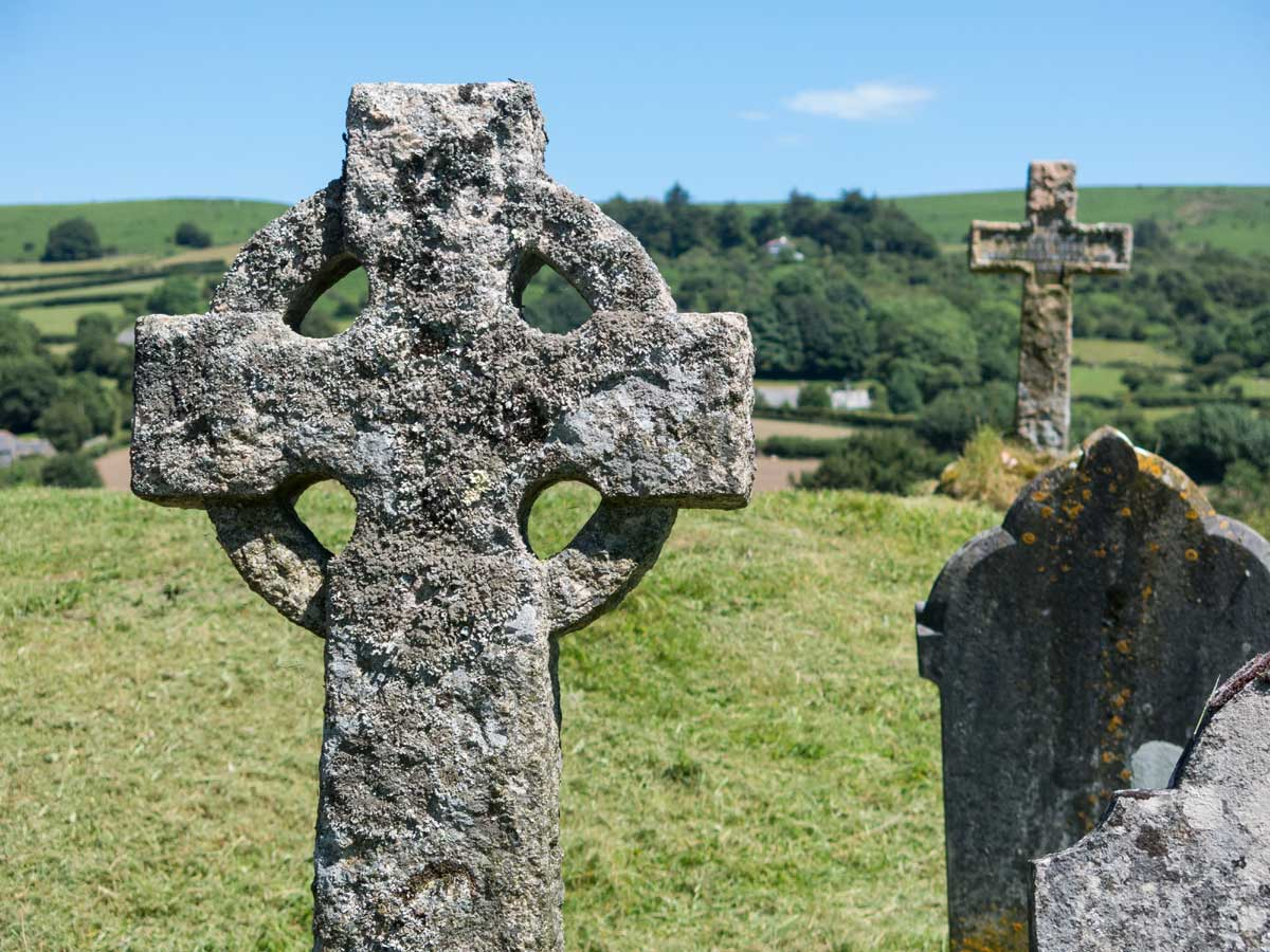 Celtic cross churchyard Dartmoor riding holiday