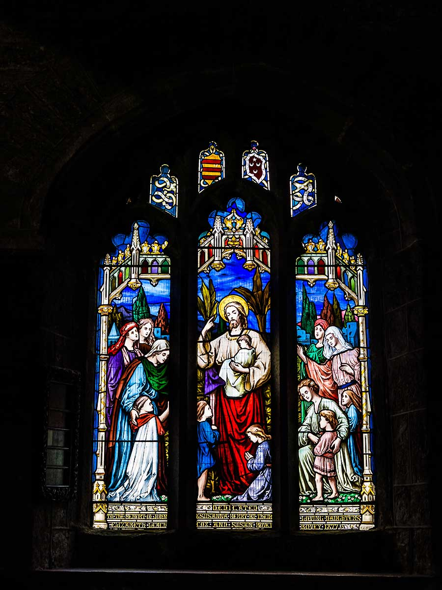 Stained glass window Dartmoor church