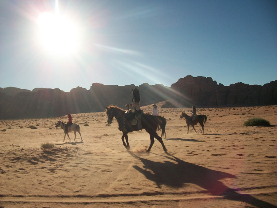 On the trail in Wadi Rum